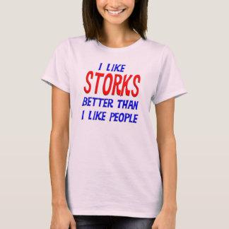 私は私が人々のTシャツを好むよりよいこうのとりを好みます Tシャツ