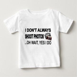 私は私が写真の… Oh待ち時間のYesを常に撃ちません ベビーTシャツ