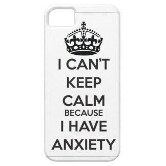 私は私が心配を有するので平静を保つことができません iPhone 5 Case-Mate ケース