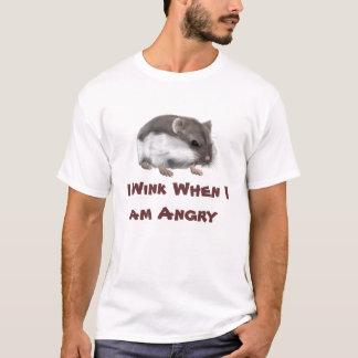 私は私が怒っているとまばたきします Tシャツ