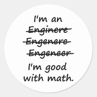 私は私が数学でよいエンジニアです ラウンドシール