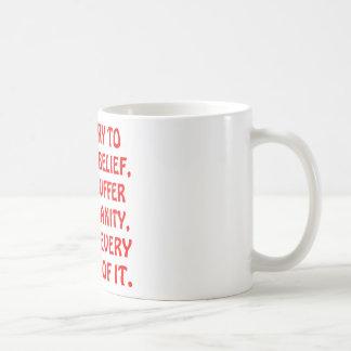 私は私が毎分楽しむ精神異常に苦しみません コーヒーマグカップ