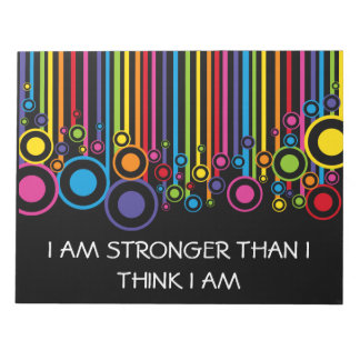 私は私が私をある考えるより強いです ノートパッド