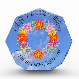 私は私が私を信じるIが夢自由にCRPS RSD Fであることを望みます 表彰盾
