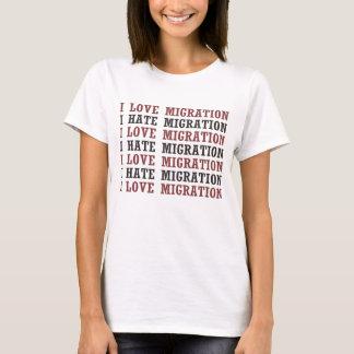 私は私が移動等等を憎む移動を愛します Tシャツ
