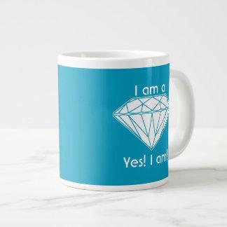 私は私が高揚しているダイヤモンドのYesです ジャンボコーヒーマグカップ