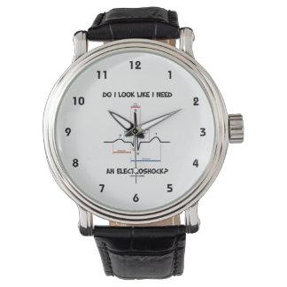 私は私がElectroshockを必要とするように見ますか。 EKG ECG 腕時計