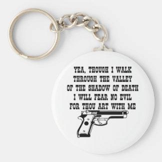 私は私とのあなたの芸術のための悪を恐れていません(私の銃) キーホルダー