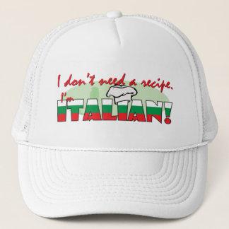 私は私によってがイタリアンであるレシピを必要としません キャップ