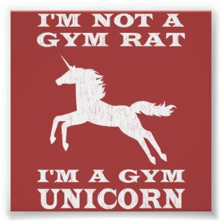 私は私によってが体育館のユニコーンである体育館のラットではないです フォトプリント