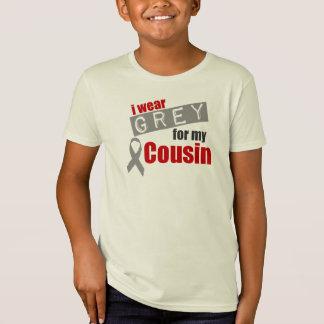 私は私のいとこのための灰色を身に着けています Tシャツ