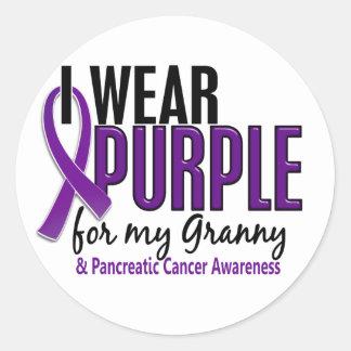 私は私のおばあさん10の膵臓癌のための紫色を身に着けています ラウンドシール