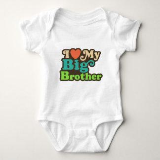 私は私のお兄さんを愛します ベビーボディスーツ
