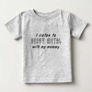 私は私のお母さんが付いている重金属に聞きます ベビーTシャツ