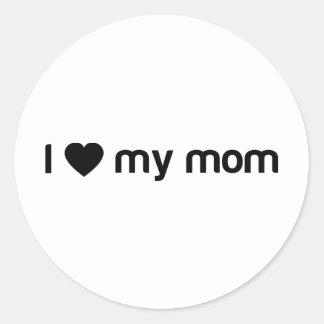 私は私のお母さんのスローガンを愛します ラウンドシール