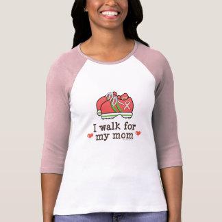 私は私のお母さんの乳癌のRaglanのTシャツのために歩きます Tシャツ