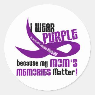 私は私のお母さんの記憶33のための紫色を身に着けています ラウンドシール