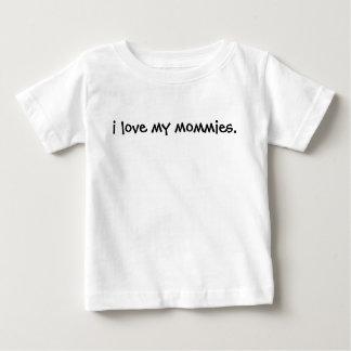 私は私のお母さんをティーにのせますあなたの可愛い人を誇りを持ったでもいいです愛します! ベビーTシャツ