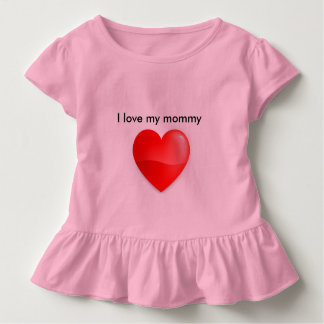 私は私のお母さんを愛します トドラーTシャツ