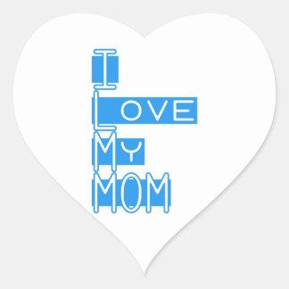 私は私のお母さんを愛します ハートシール