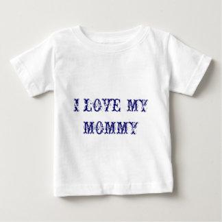 私は私のお母さんを愛します ベビーTシャツ