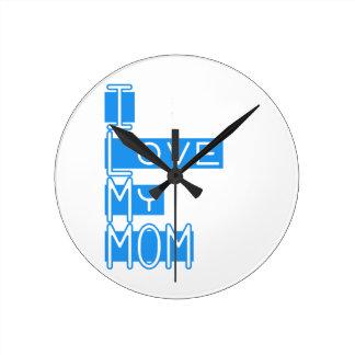 私は私のお母さんを愛します ラウンド壁時計
