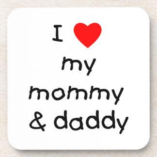私は私のお母さん及びお父さんを愛します コースター