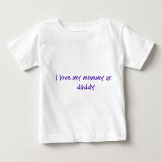 私は私のお母さん及びお父さんを愛します ベビーTシャツ
