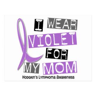 私は私のお母さん37のHodgkinのリンパ腫のためのバイオレットを身に着けています ポストカード
