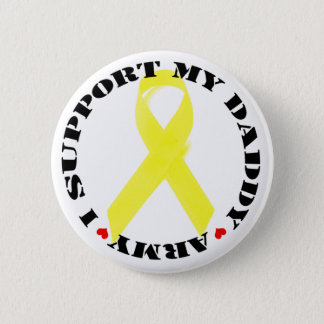 私は私のお父さんボタン-軍隊--を支えます 5.7CM 丸型バッジ