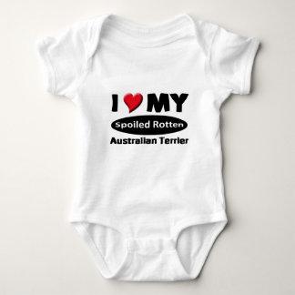 私は私のだめにされた腐ったオーストラリアンテリアを愛します ベビーボディスーツ