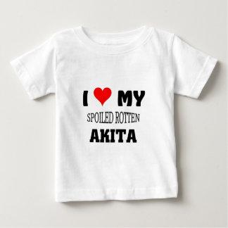 私は私のだめにされた腐った秋田を愛します ベビーTシャツ