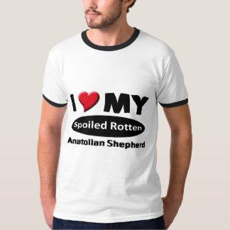 私は私のだめにされた腐ったAnatolian羊飼いを愛します Tシャツ