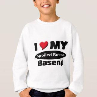 私は私のだめにされた腐ったBasenjiを愛します スウェットシャツ