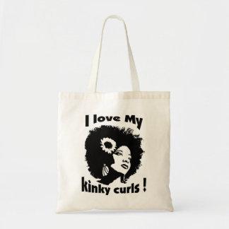 私は私のねじれたカールを愛します! トートバッグ