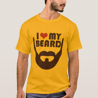 私は私のひげを愛します Tシャツ