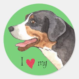 私は私のより素晴らしいスイス山犬を愛します ラウンドシール