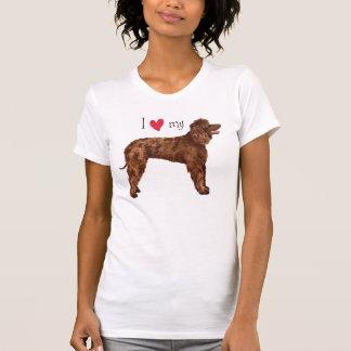 私は私のアイリッシュ・ウォーター・スパニエルを愛します Tシャツ
