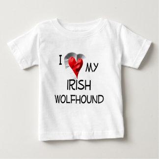 私は私のアイリッシュ・ウルフハウンドを愛します ベビーTシャツ
