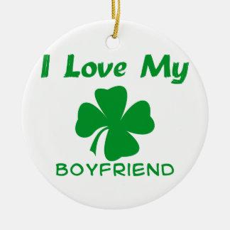 私は私のアイルランドのボーイフレンドを愛します セラミックオーナメント