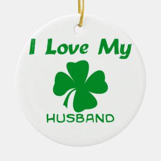 私は私のアイルランドの夫を愛します セラミックオーナメント