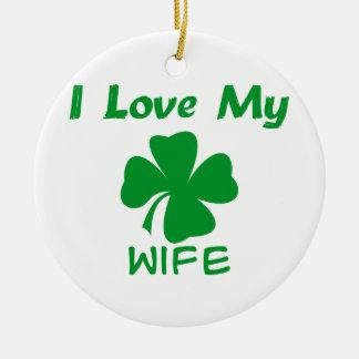 私は私のアイルランド語を愛します セラミックオーナメント
