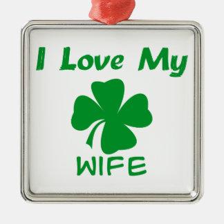 私は私のアイルランド語を愛します メタルオーナメント