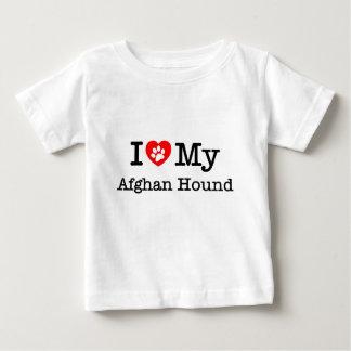 私は私のアフガンハウンドを愛します ベビーTシャツ