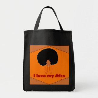 私は私のアフリカのバッグを愛します トートバッグ