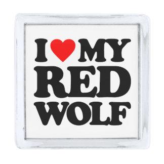 私は私のアメリカアカオオカミを愛します シルバー ラペルピン