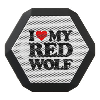 私は私のアメリカアカオオカミを愛します ブラックBluetoothスピーカー