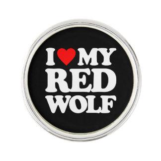 私は私のアメリカアカオオカミを愛します ラペルピン