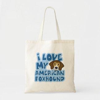 私は私のアメリカFoxhoundのバッグを愛します トートバッグ