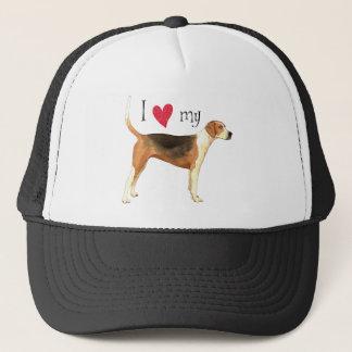 私は私のアメリカFoxhoundを愛します キャップ
